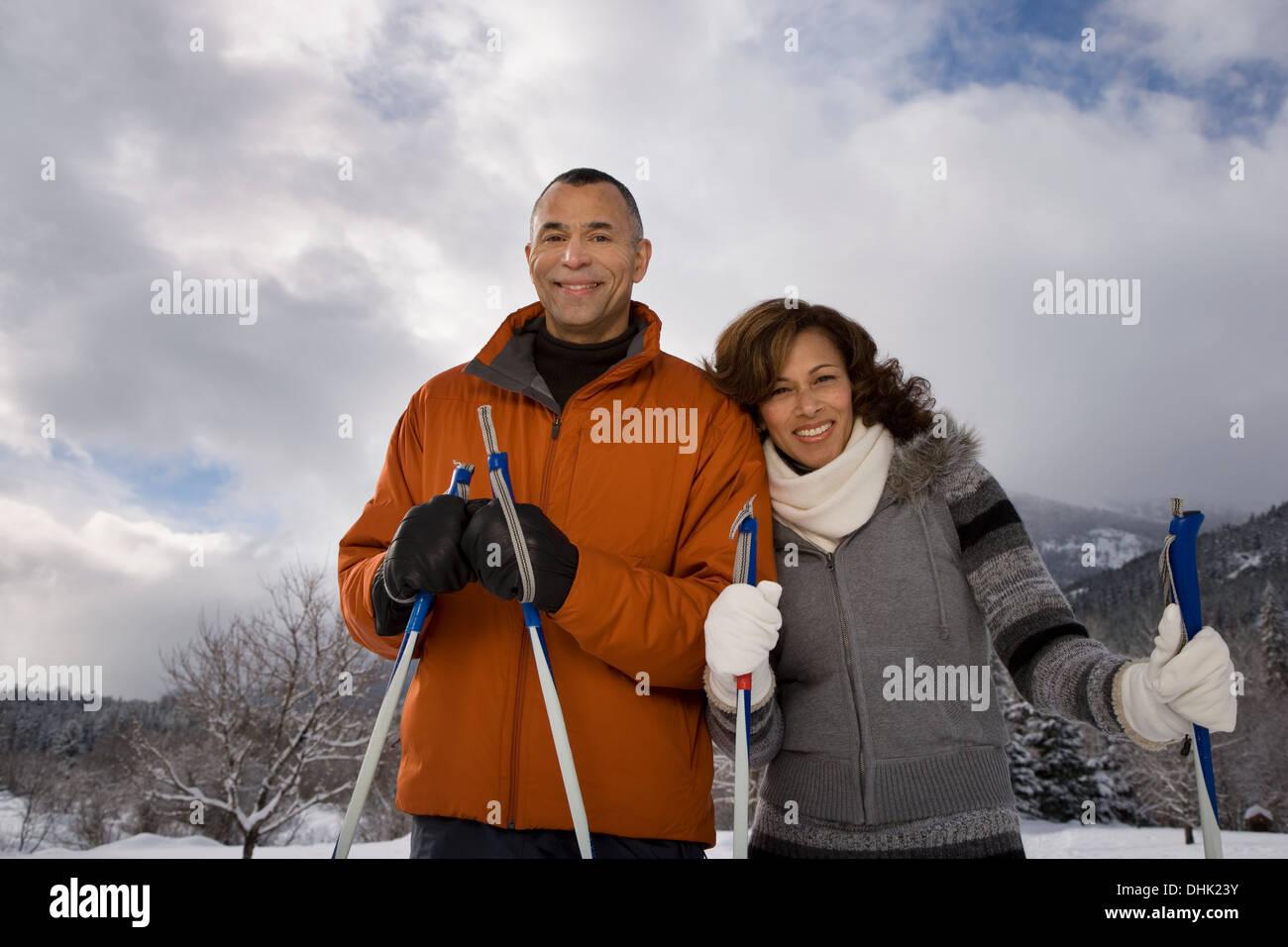 Portrait of a mature couple - Stock Image