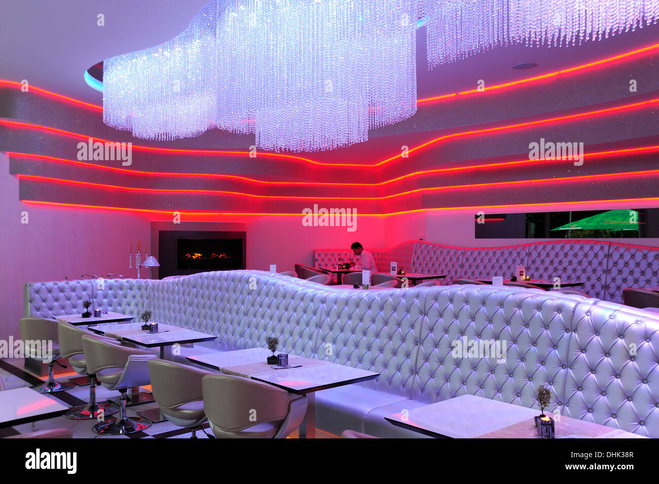 Germany, Berlin, Interieur of Restaurant and lounge bar MIO Berlin - Stock Image