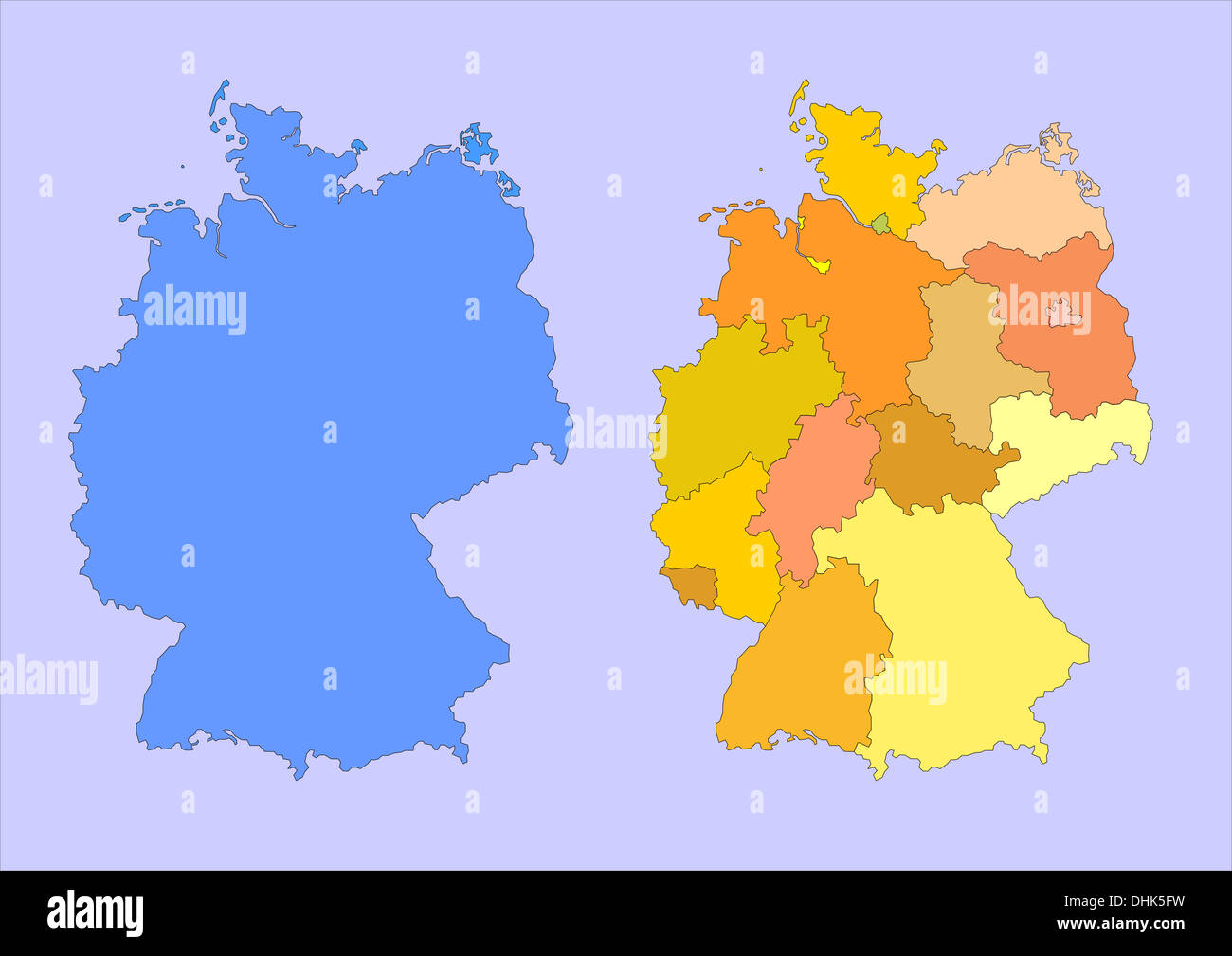 map of germany - Stock Image