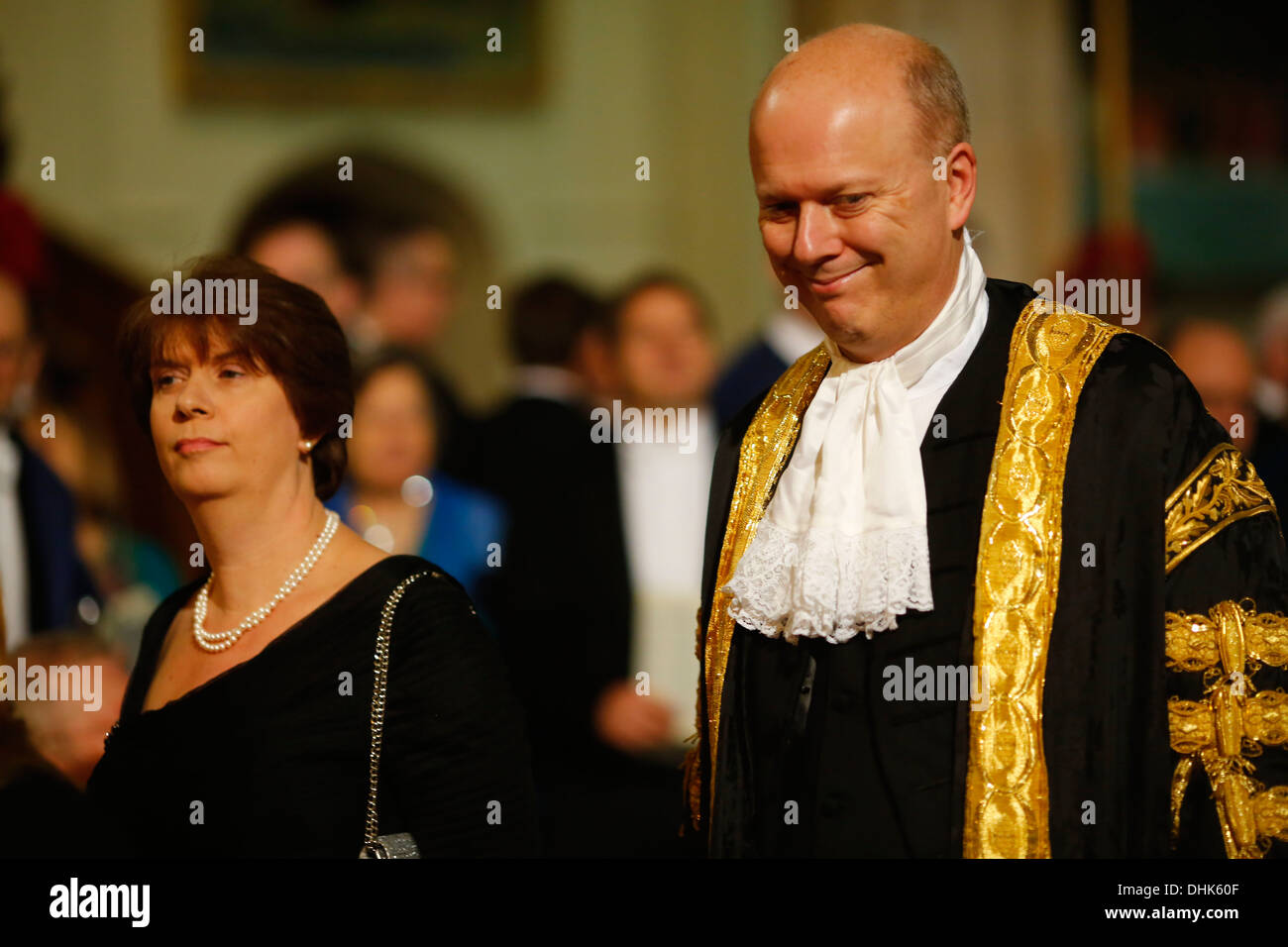 Justice Secretary Chris Grayling and his wife Susan Clare Dillistone Stock Photo