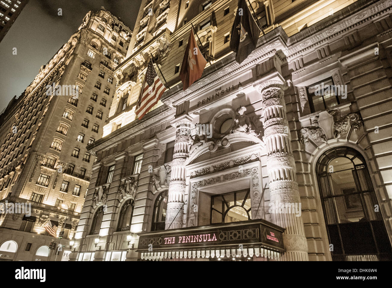 Hotel Peninsula, The Gotham, architectural bureau Hiss und Weekes, Fith Avenue, Manhattan, New York, USA - Stock Image