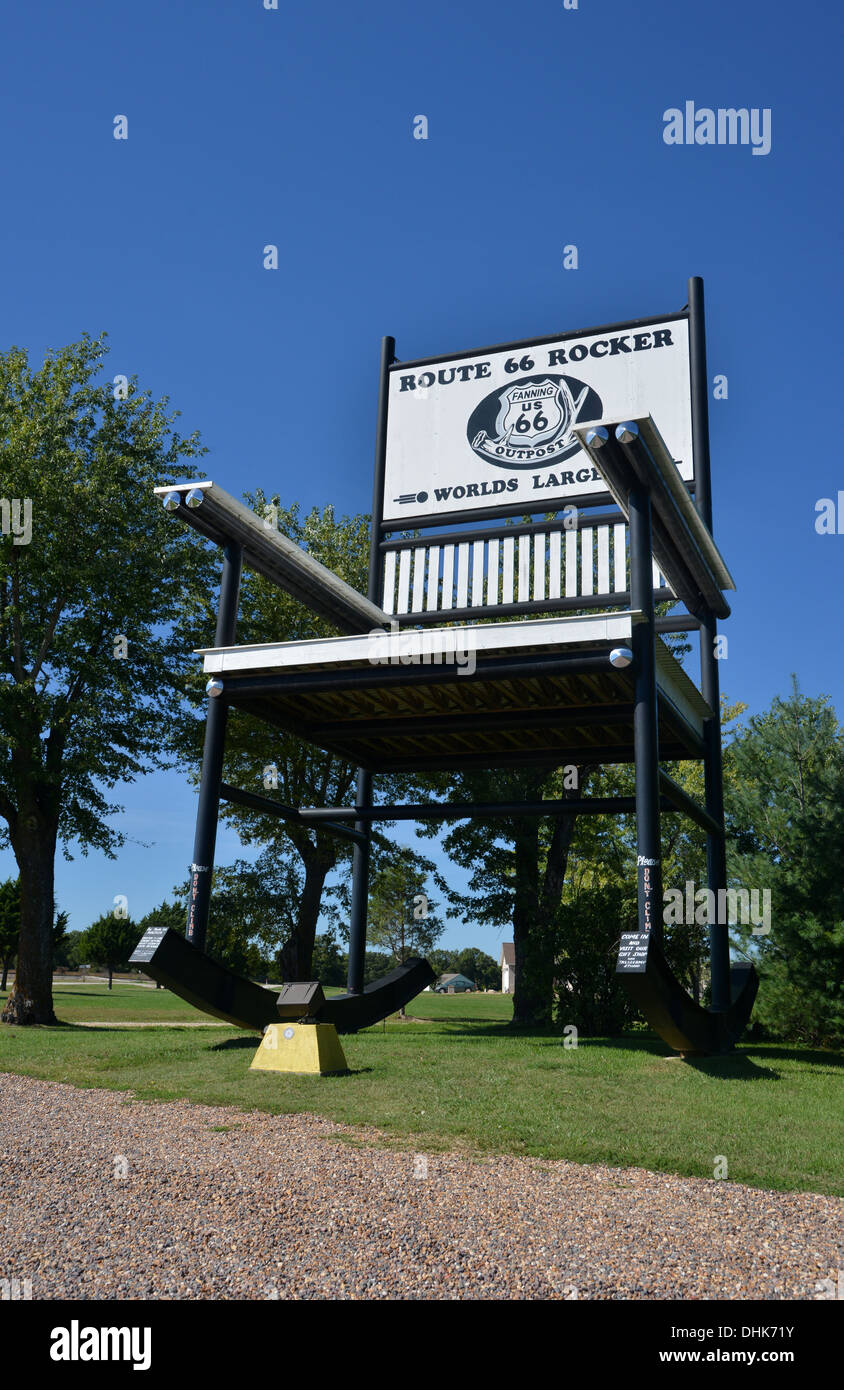 Magnificent Route 66 Rocker Worlds Largest Rocking Chair At 66 Outpost Alphanode Cool Chair Designs And Ideas Alphanodeonline