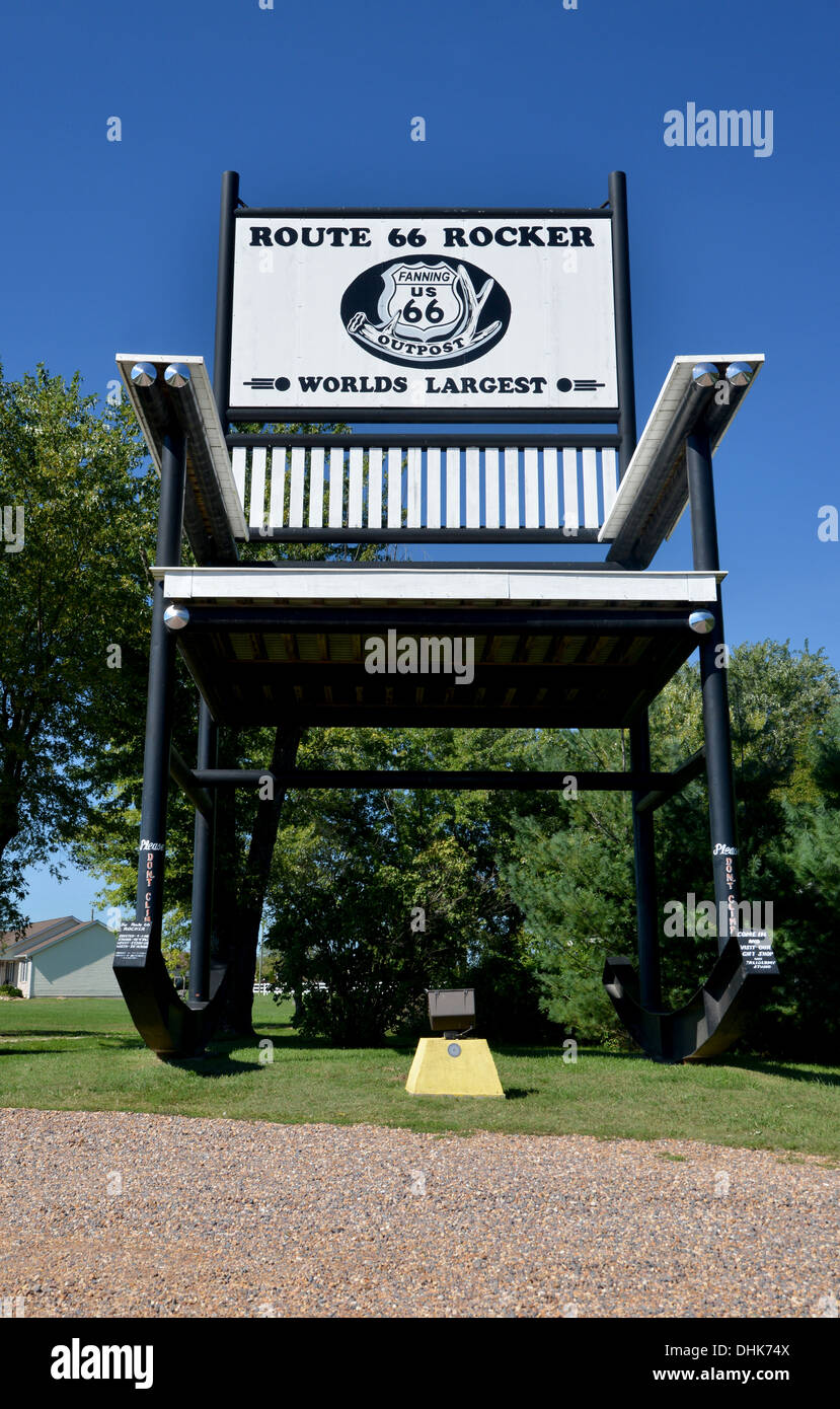 Surprising Route 66 Rocker Worlds Largest Rocking Chair At 66 Outpost Alphanode Cool Chair Designs And Ideas Alphanodeonline