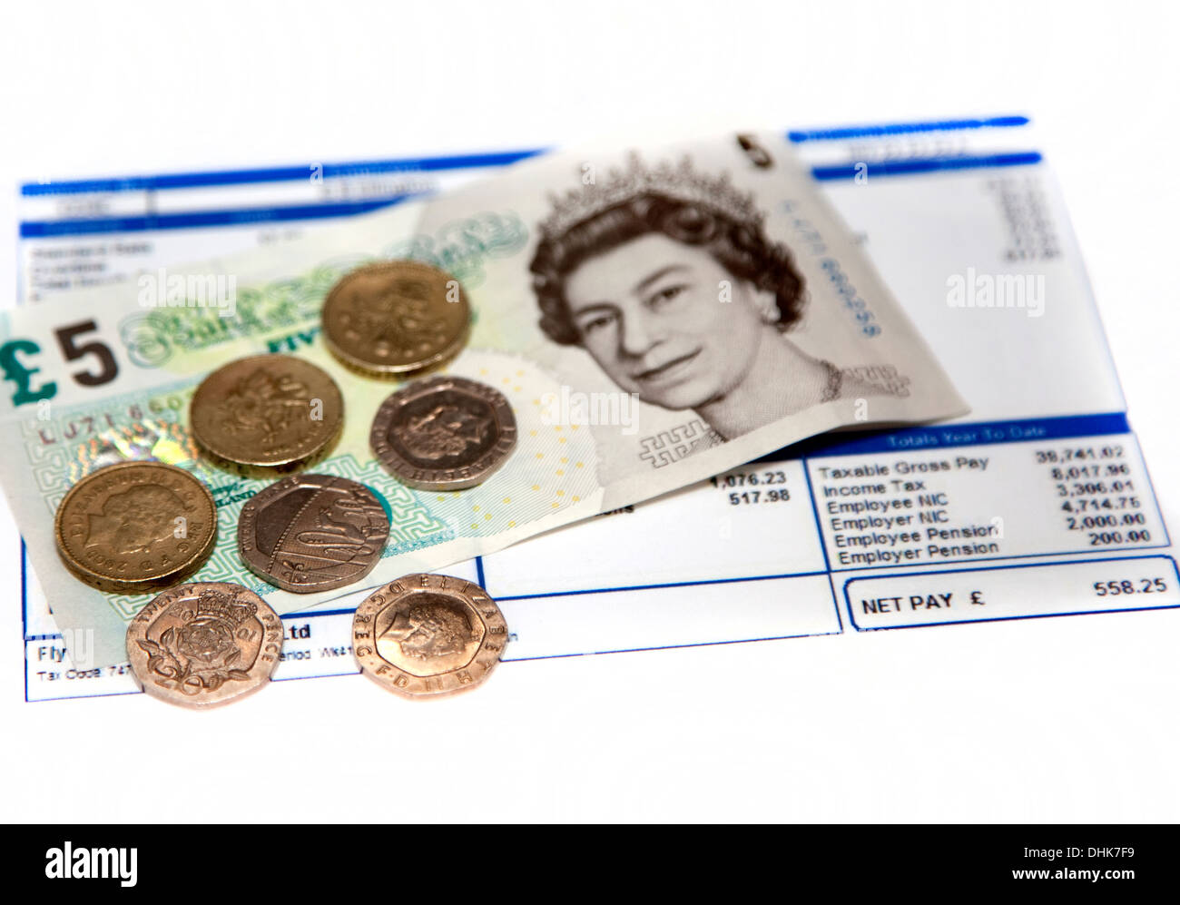 London Living Wage is £8.80 per hour in November 2013 - Stock Image