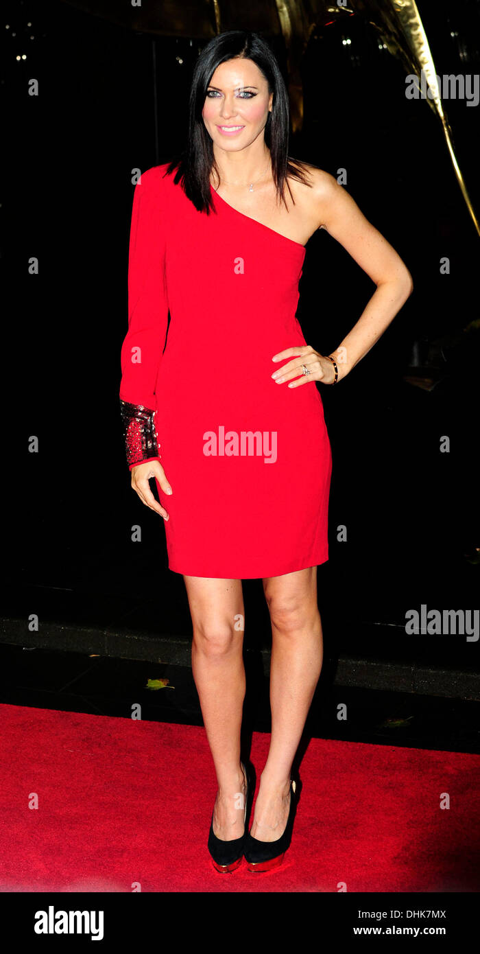 London, UK. 11th November 2013. Linzi Stoppard attends The World Premiere ofthe Hunger Games:Catching Fire at the Odeon Leicester Square London 11-11-2013. © Peter Phillips/Alamy Live News - Stock Image
