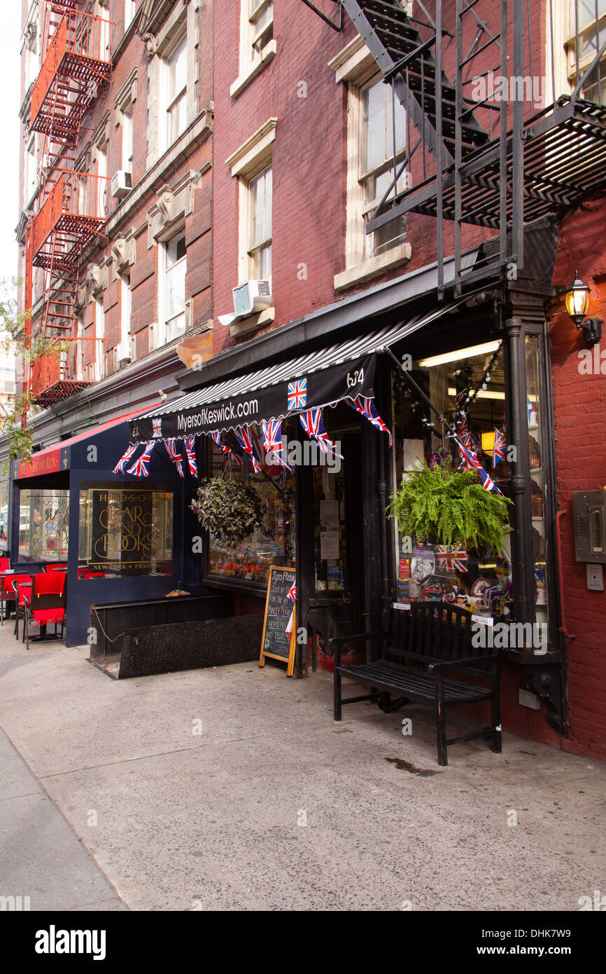 'Myers of Keswick' English food store,Greenwich Village, Manhattan, New York City, United States of America. - Stock Image
