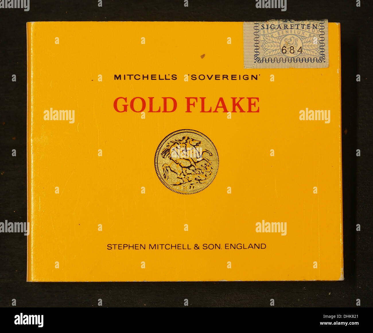 Gold Flake cigarettes, Mitchells Sovereign, backside - Stock Image