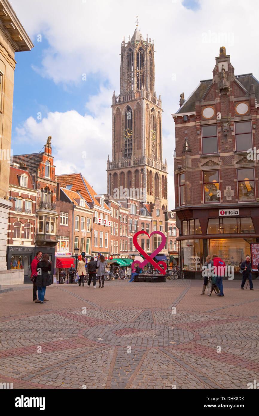 Europe,Netherlands,Utrecht,Cathedral of St. Martinus Stock Photo