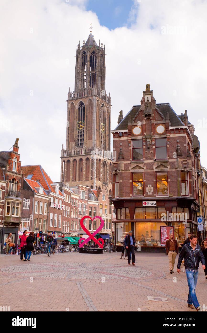 Europe,Netherlands,Utrecht,Cathedral of St. Martinus - Stock Image