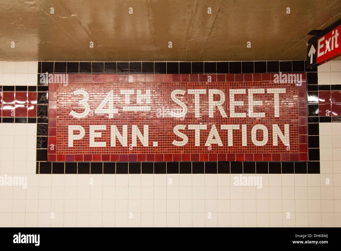 Manhattan Subway Sign Stock Photos Manhattan Subway Sign Stock