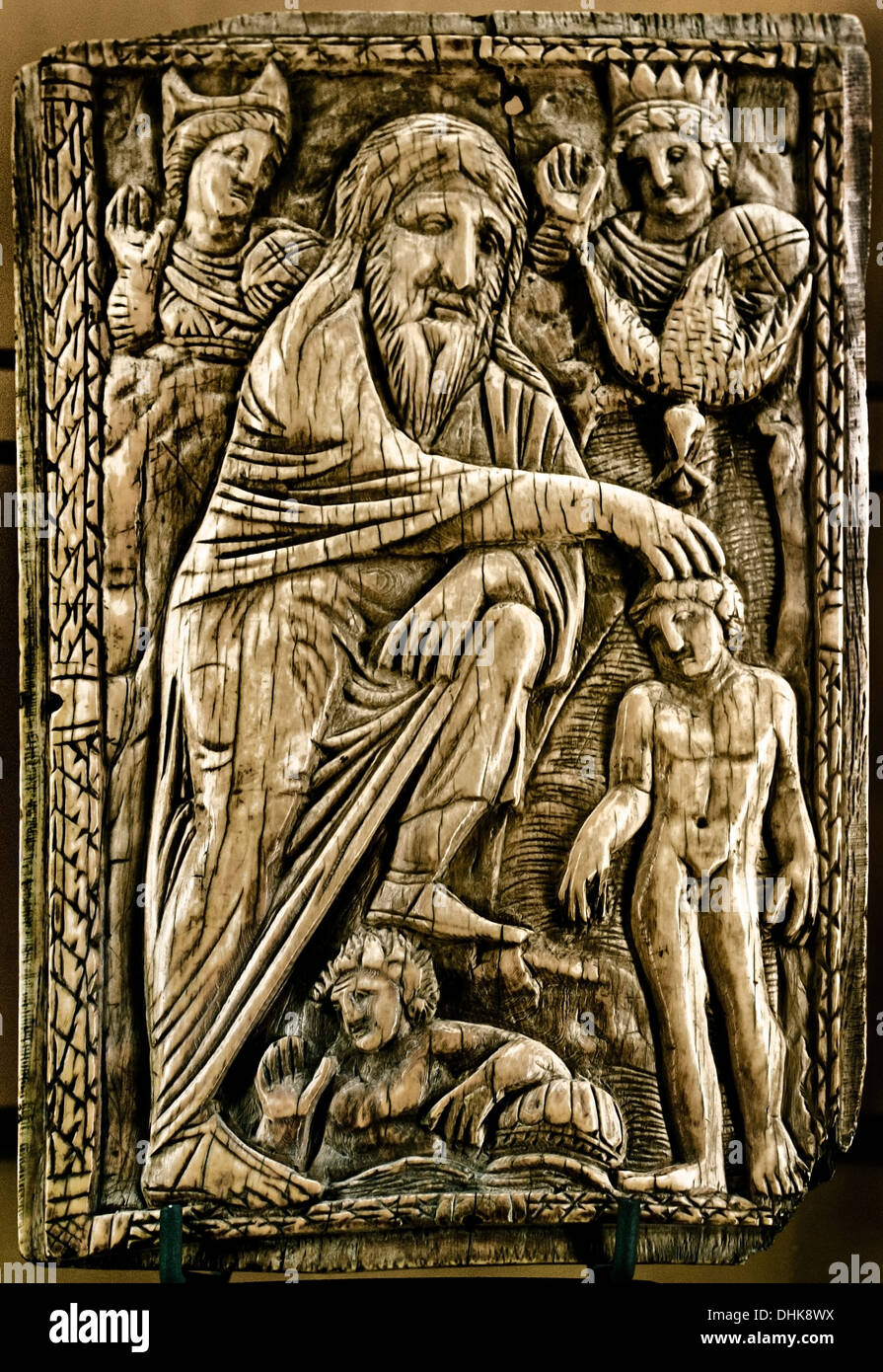 The Baptism of Christ 6th Century Eastern Mediterranean Byzantine ivories ivory - Stock Image