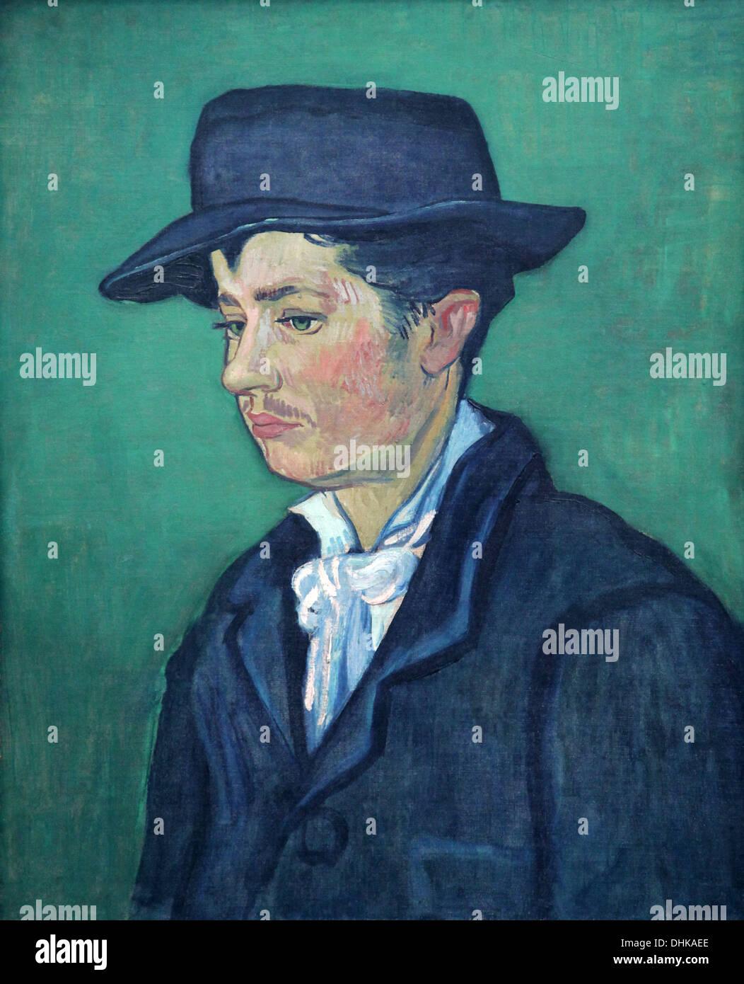 Vincent van Gogh.Portrait of Armand Roulin.1888. - Stock Image