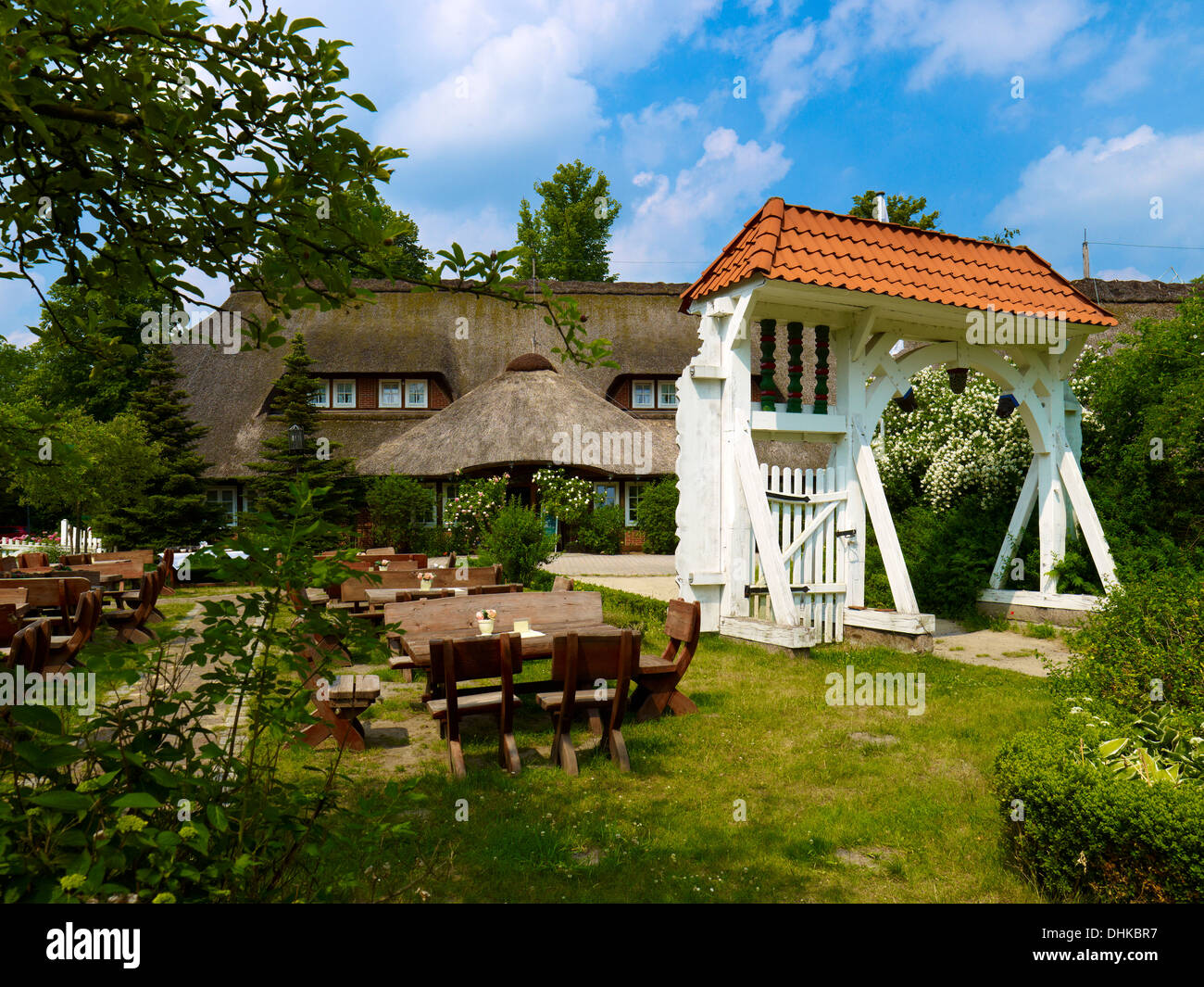 Gate of the open-air museum, Stade, Germany - Stock Image