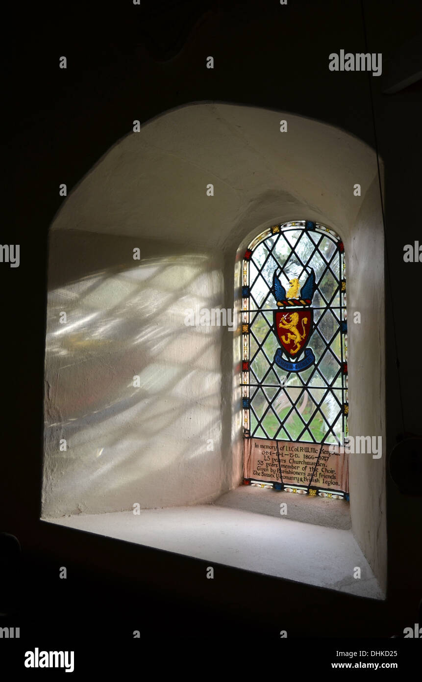 stained glass window - Stock Image