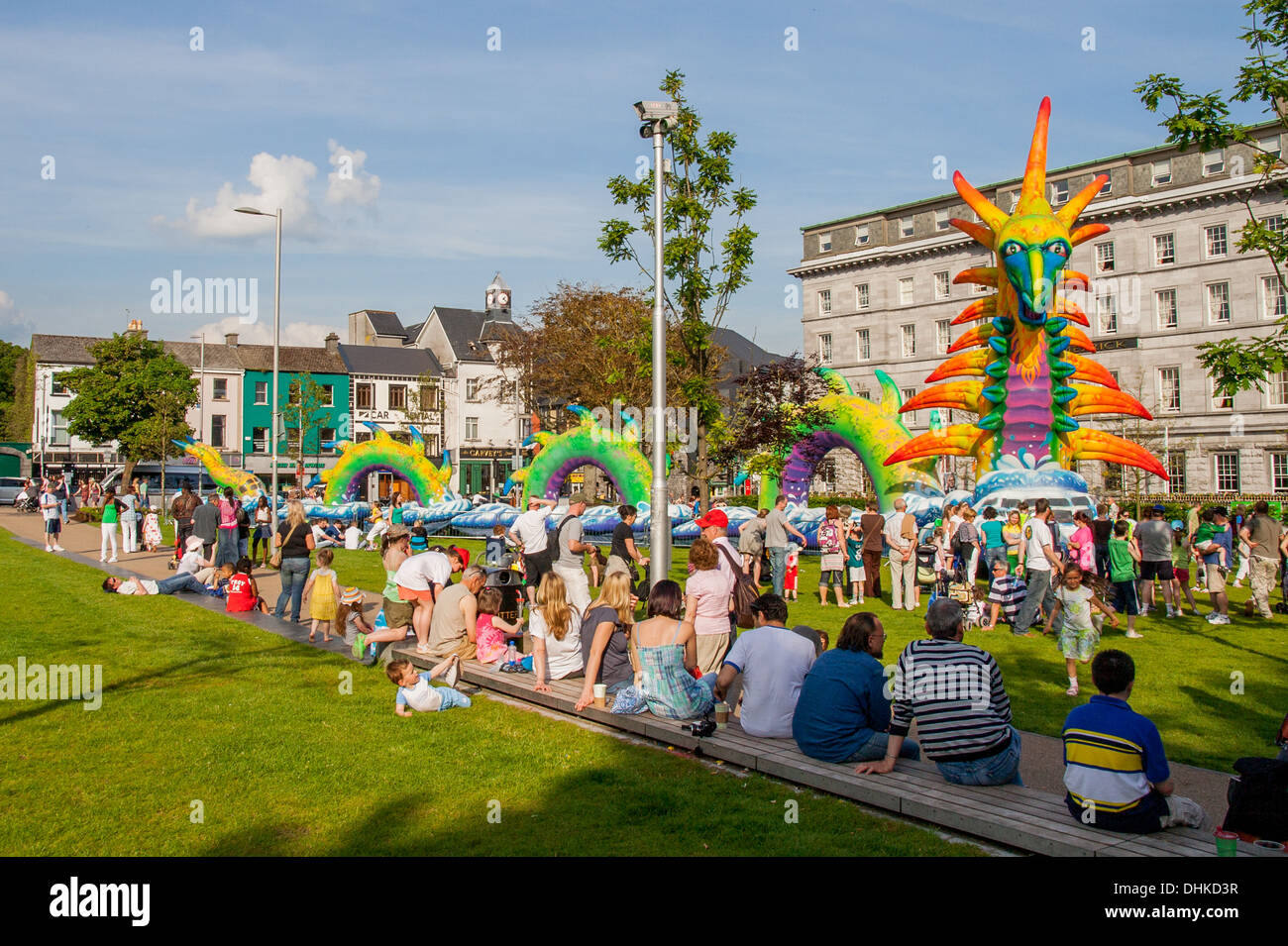 Eyre Square Galway City Ireland - Stock Image
