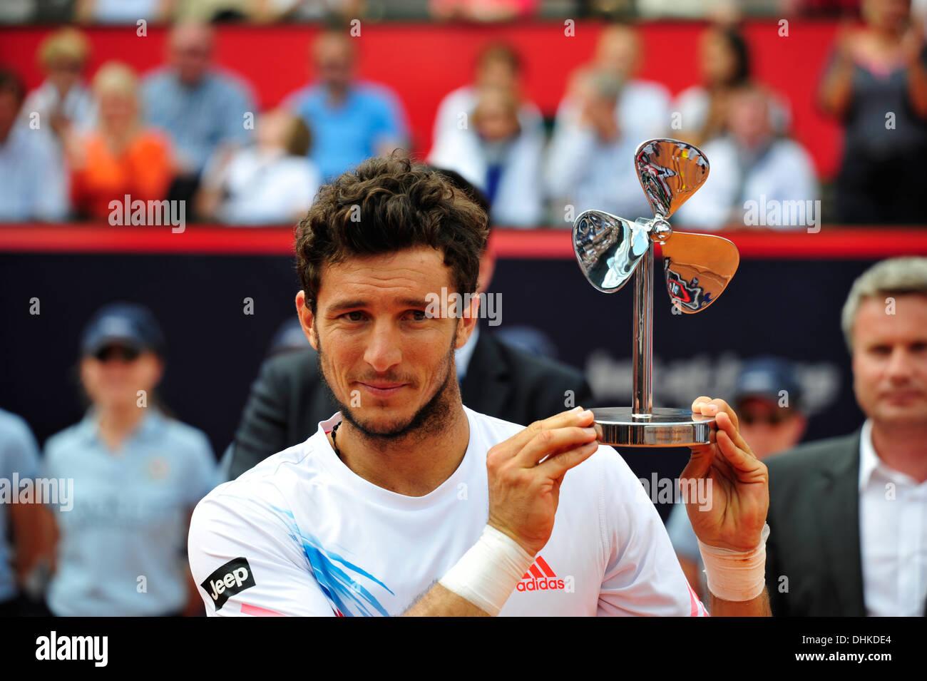 Juan Monaco (ARG), winner of bet-at-home Tennis Match 2012, Rothenbaum, Hamburg, Germany. Press use only. - Stock Image