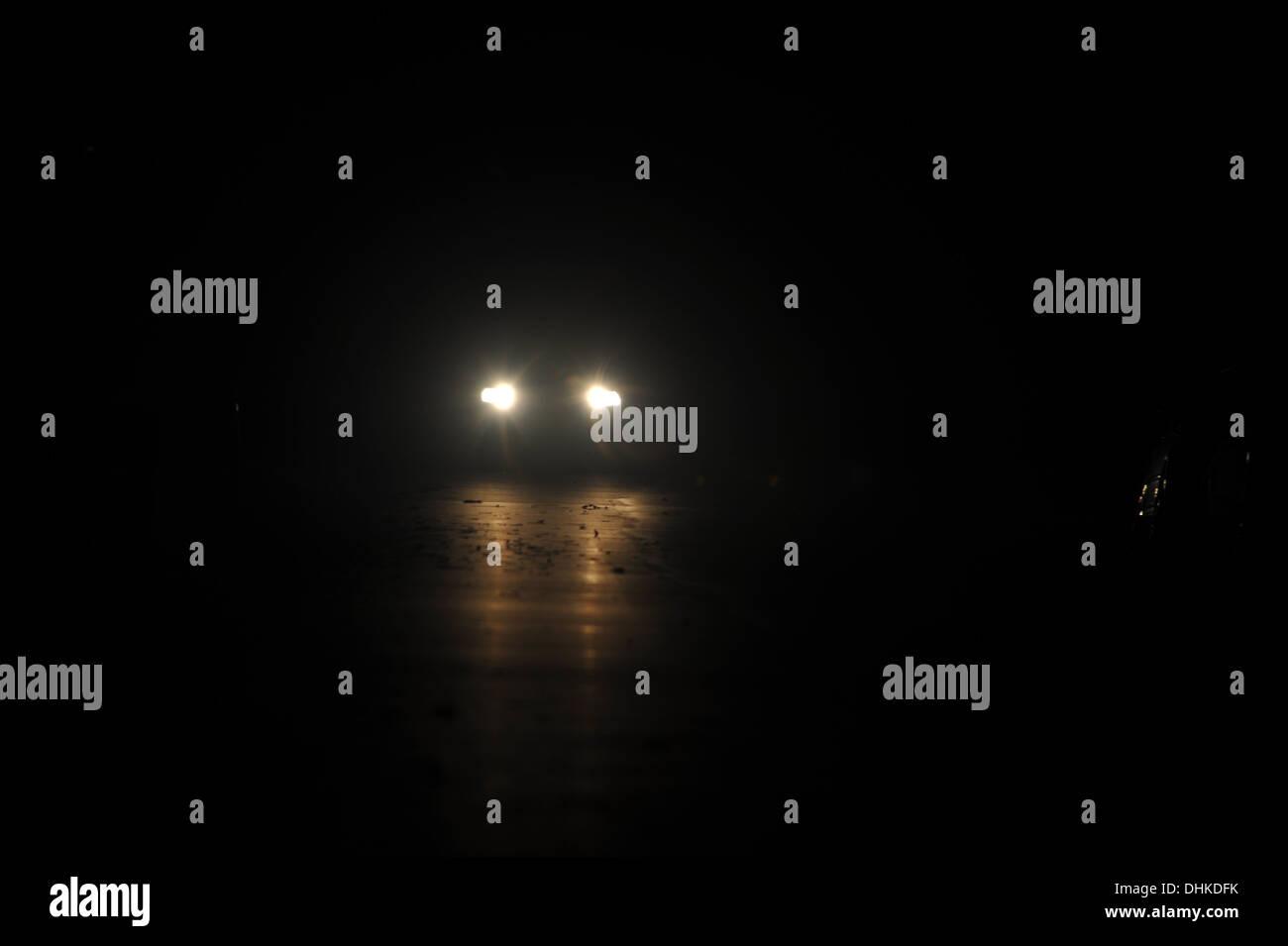 Night Drive, Czech Republic, CZ. - Stock Image