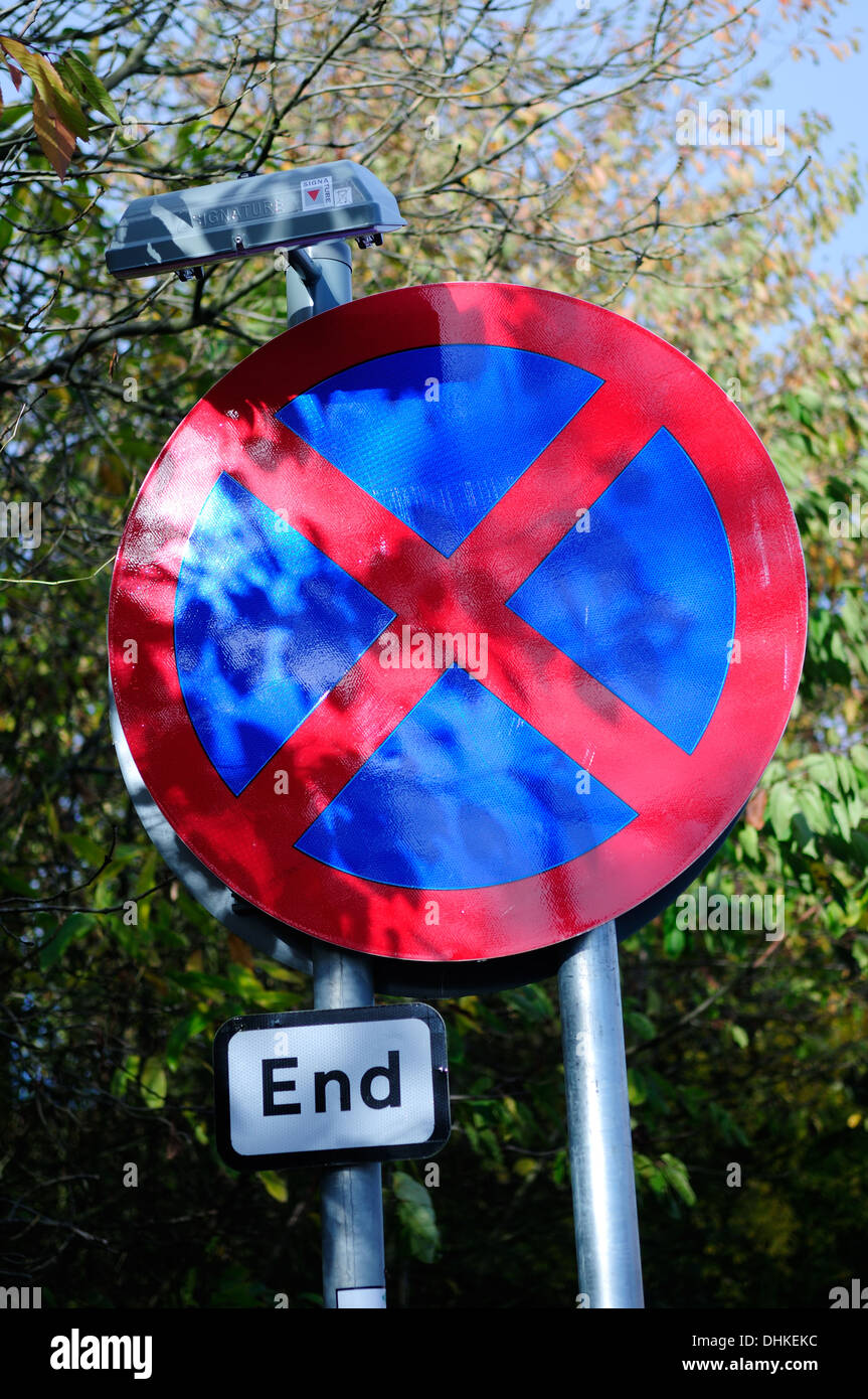 British Road Signs In England,UK. - Stock Image