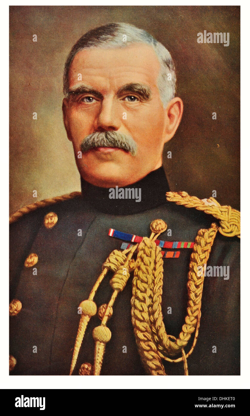 General Sir. William Robertson 1st Baronet (1860-1933), Chief of the Imperial General Staff between 1916-1918. Stock Photo