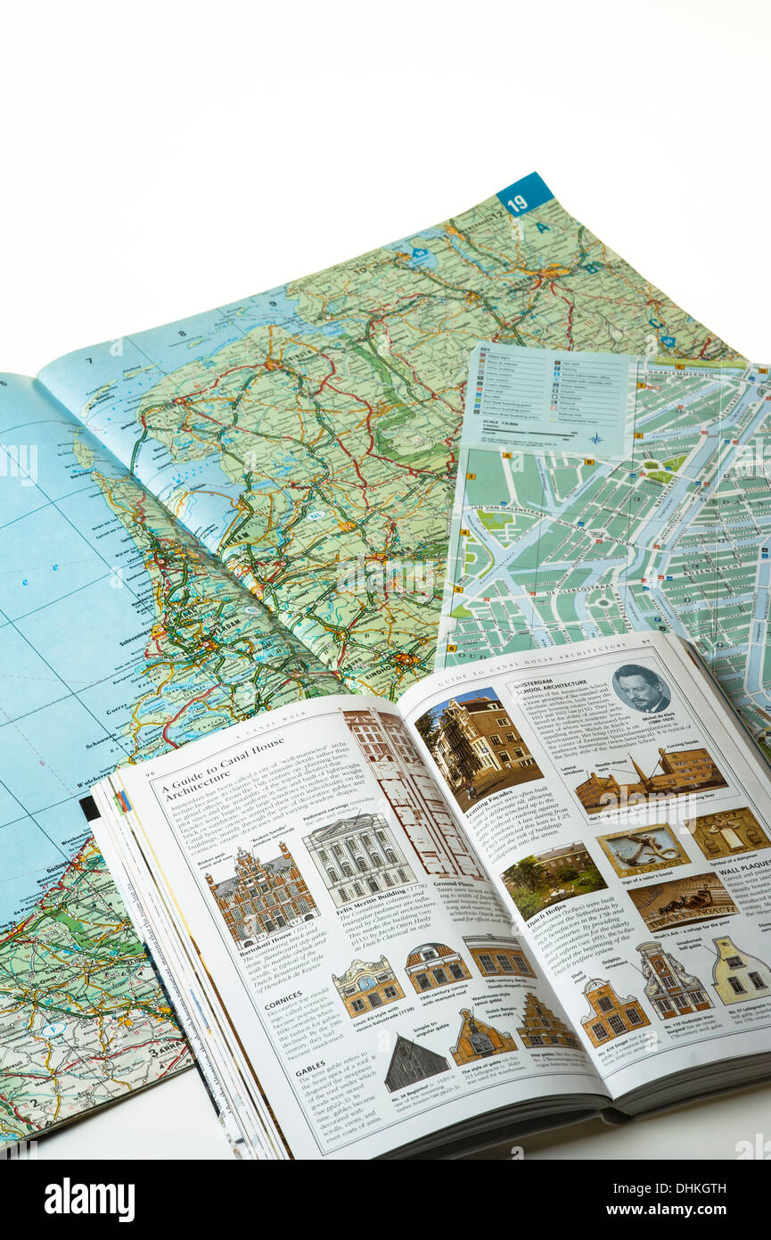 Planning a city break holiday.tourism - Stock Image
