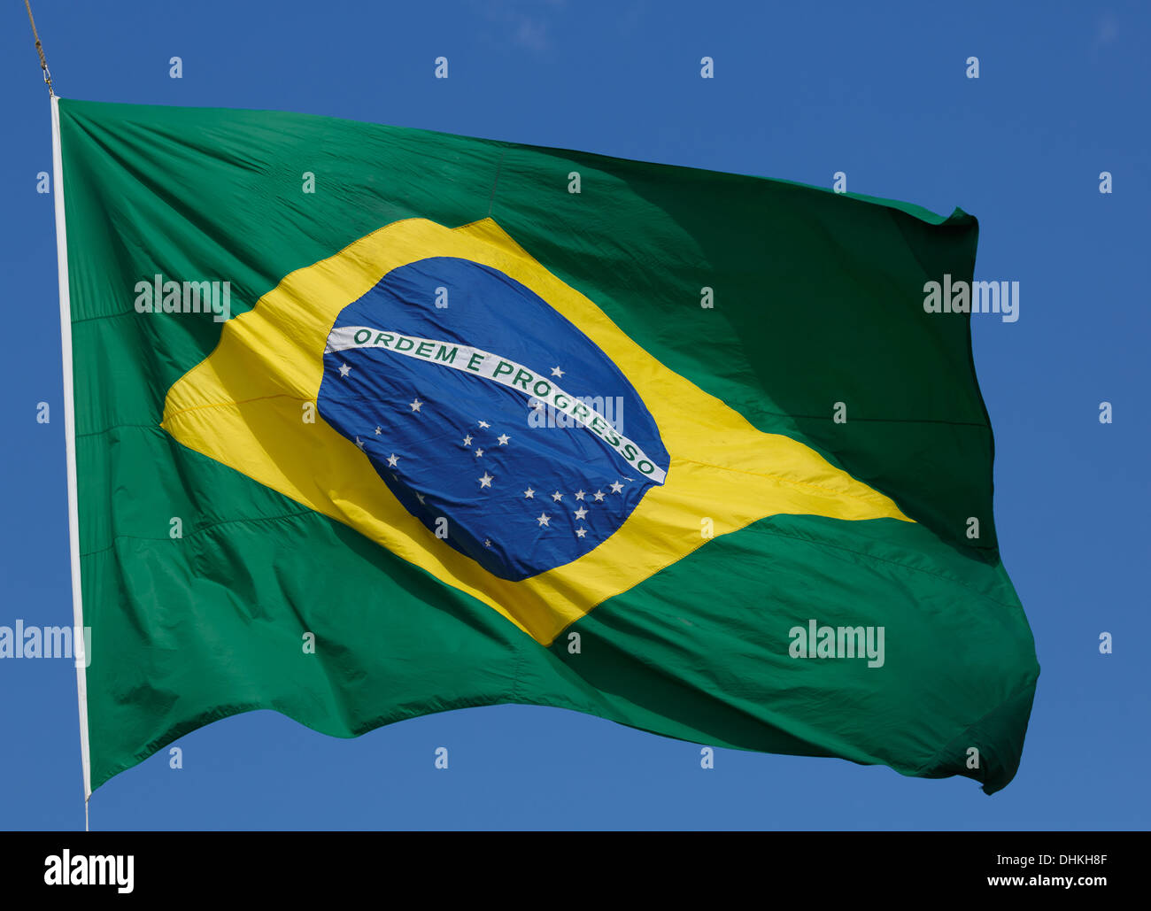 The flag of Brazil. - Stock Image