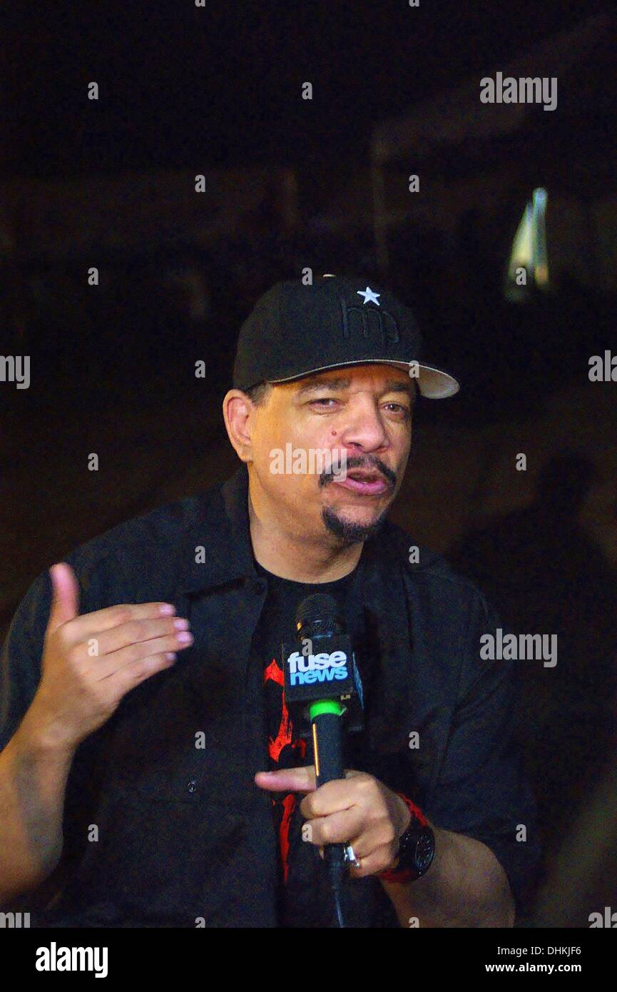 Austin, Texas, USA. 9th Nov, 2013. Rapper and actor Ice-T at Fun, Fun, Fun Fest in Austin, Texas on 11/09/2013.Backstage photo opportunity. © Jeff Newman/Globe Photos/ZUMAPRESS.com/Alamy Live News - Stock Image