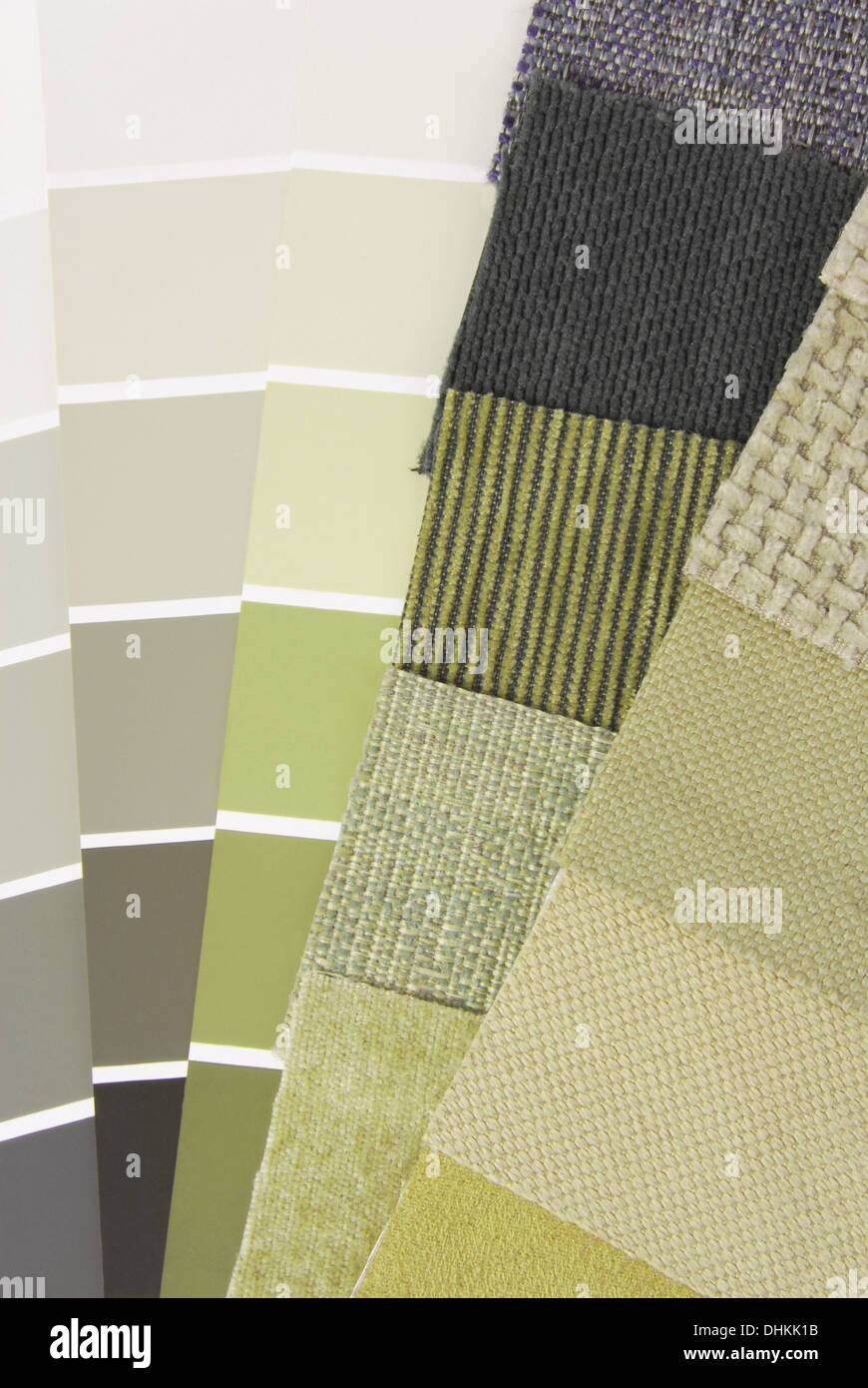 upholstery tapestry color selection for interior - Stock Image