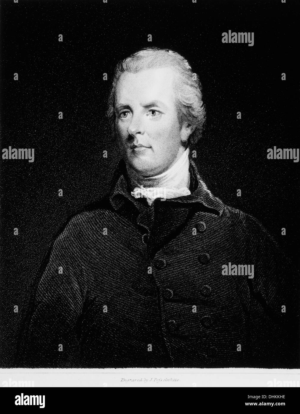 William Pitt the Younger (1759-1806), British Statesman and Youngest Prime Minister, Portrait - Stock Image