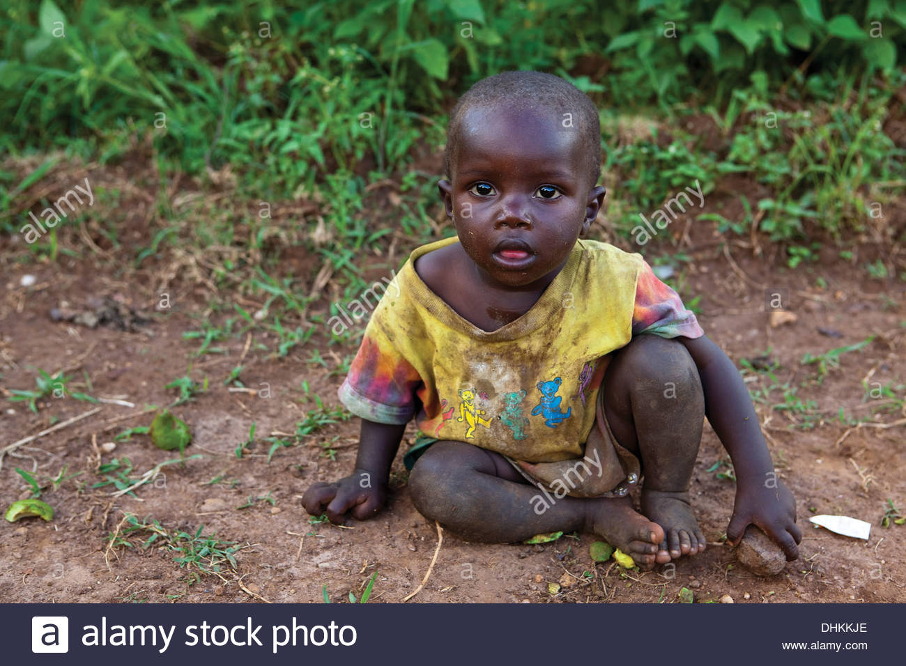 Impoverished African Toddler - Stock Image