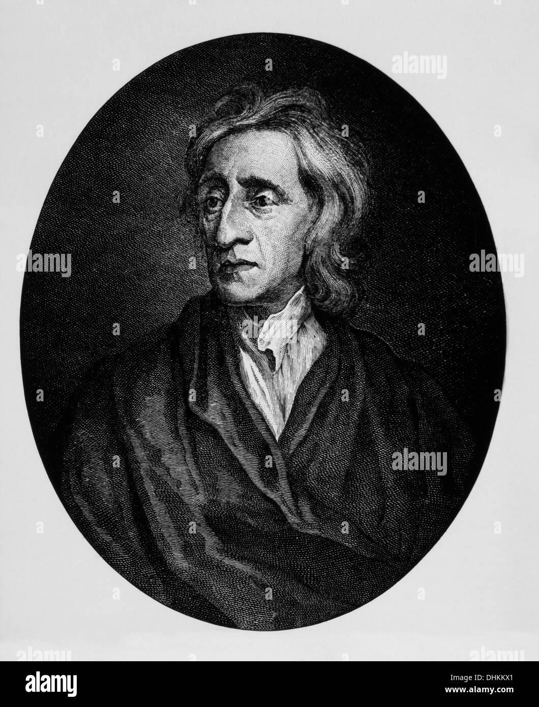 John Locke (1632-1704), English Philosopher, Founder of British Empiricism & Widely Known as the Father of Classical Liberalism - Stock Image