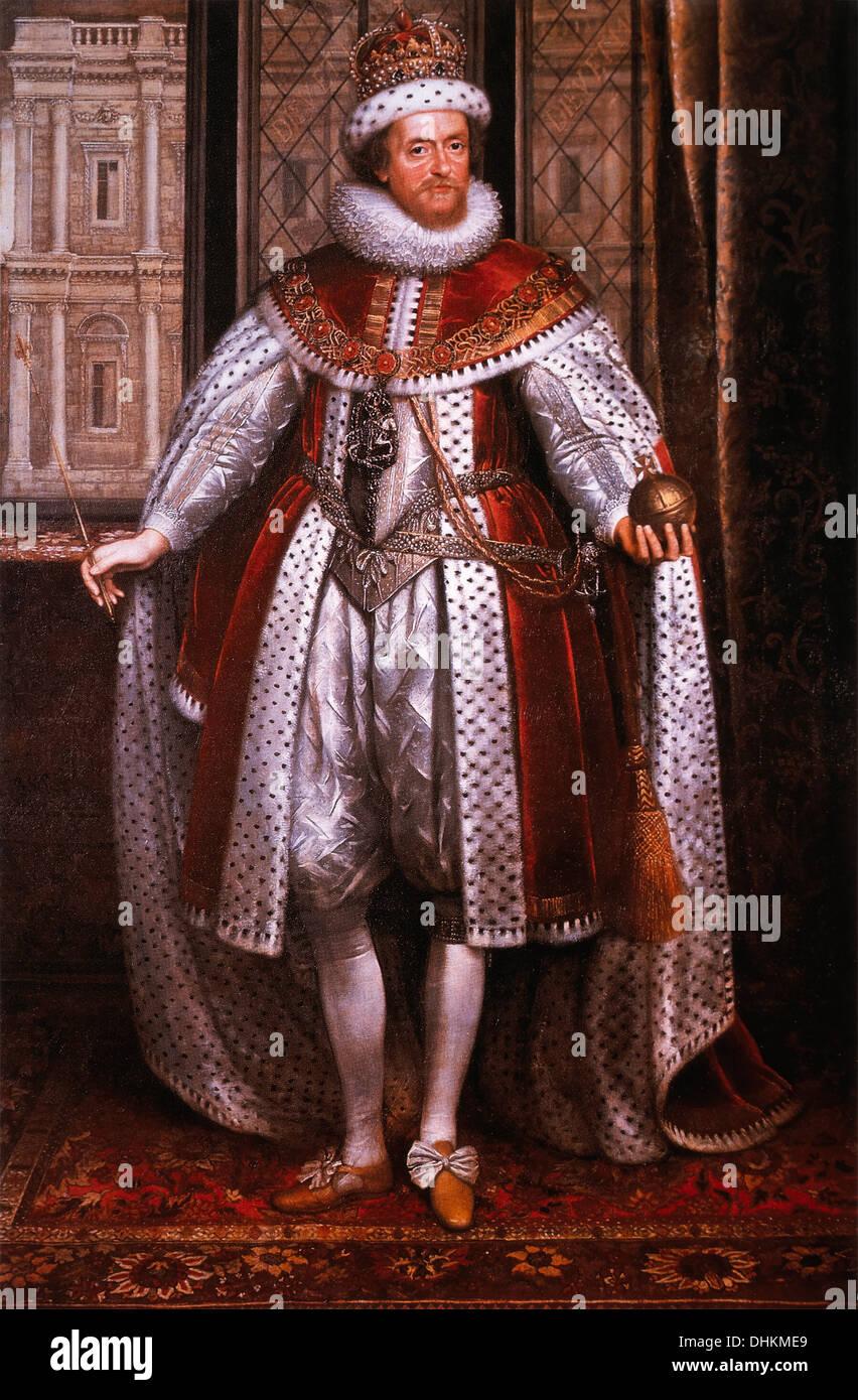 James I (1566-1625), King of England, 1603-25, Portrait - Stock Image