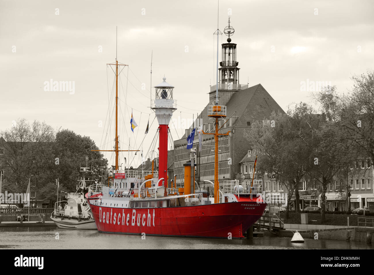 Lightship in the Old Inland Port - Stock Image