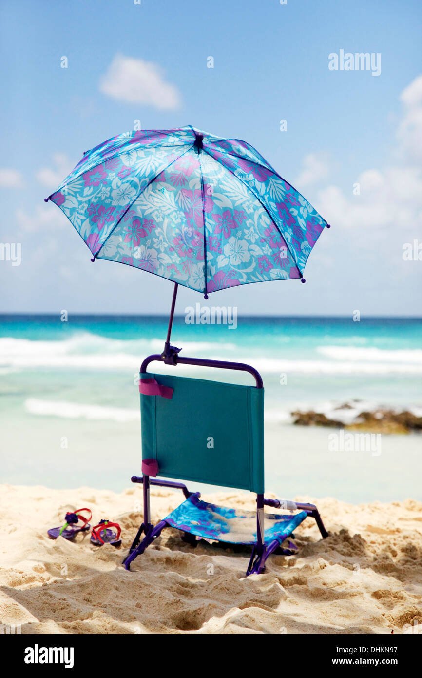 Baby Beach Chair On A Beach Stock Photo Alamy