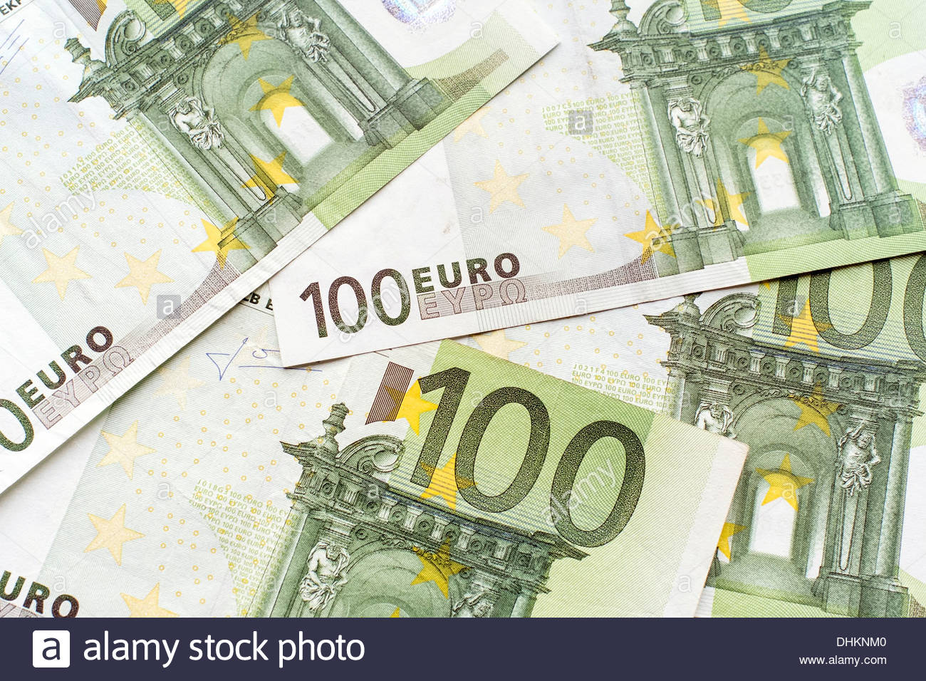 One-hundred Euro bills - Stock Image