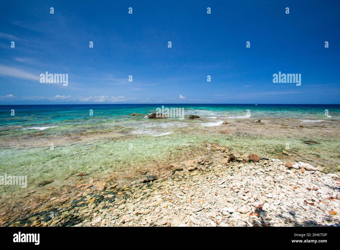 Meridian Beach, Roatan Honduras - Stock Image