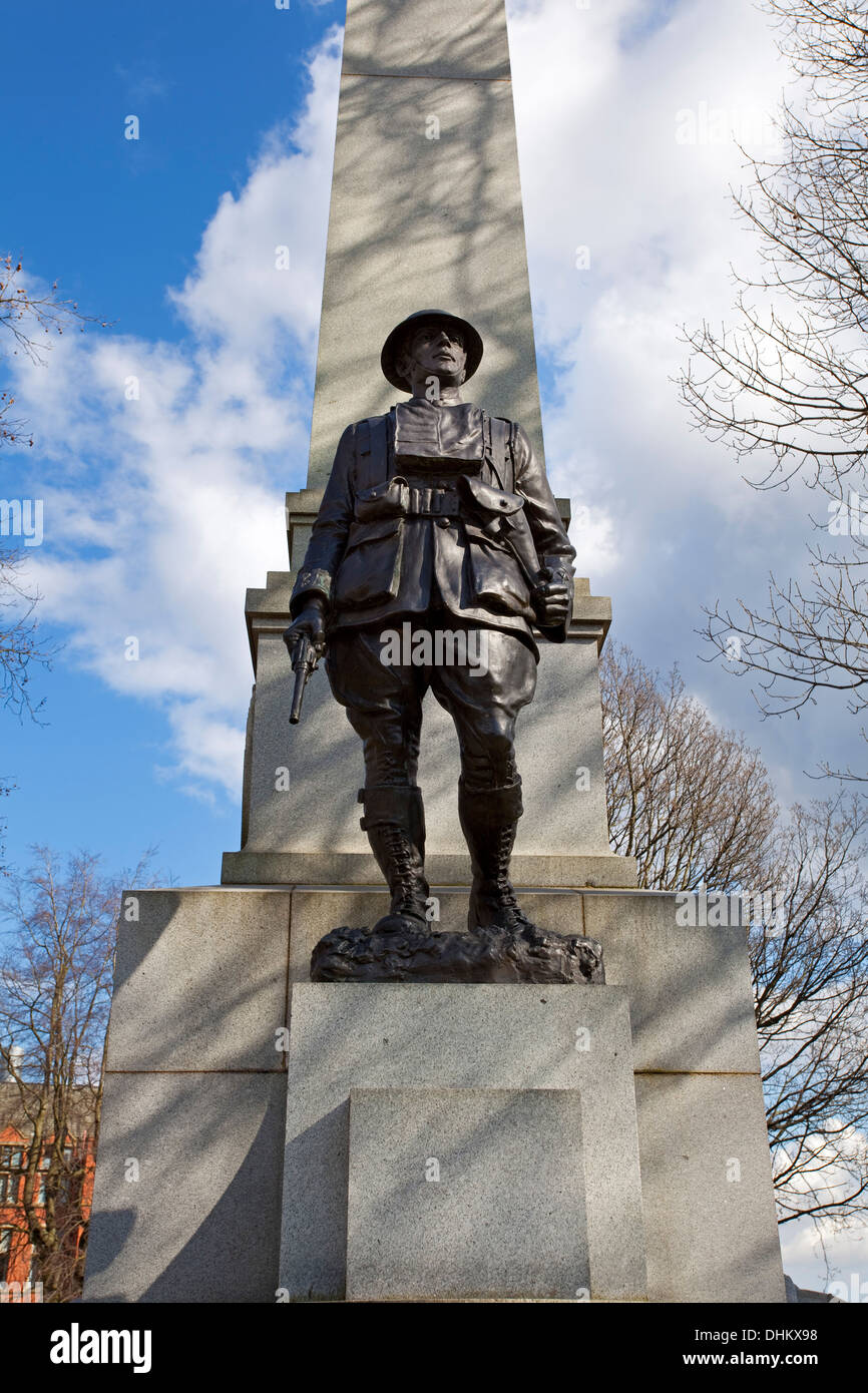 The Transvaal War Memorial in Weston Park Sheffield South Yorkshire UK - Stock Image