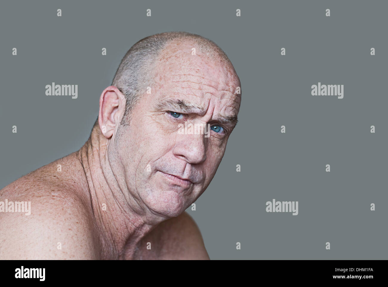 Skeptical Man - Stock Image
