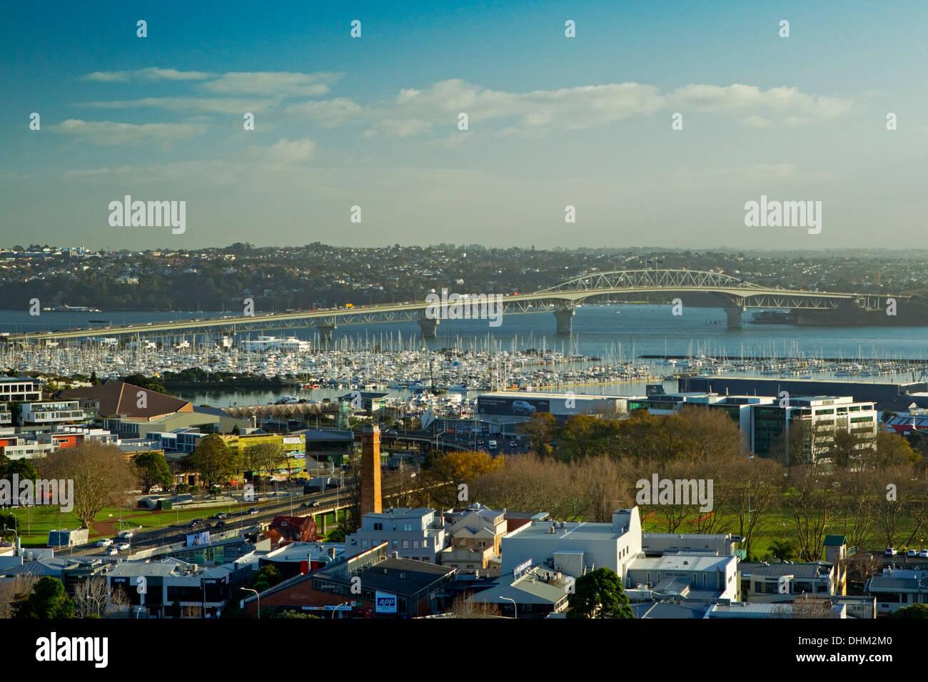 View of Harbour Bridge, Auckland, Monday, July 08, 2013. - Stock Image