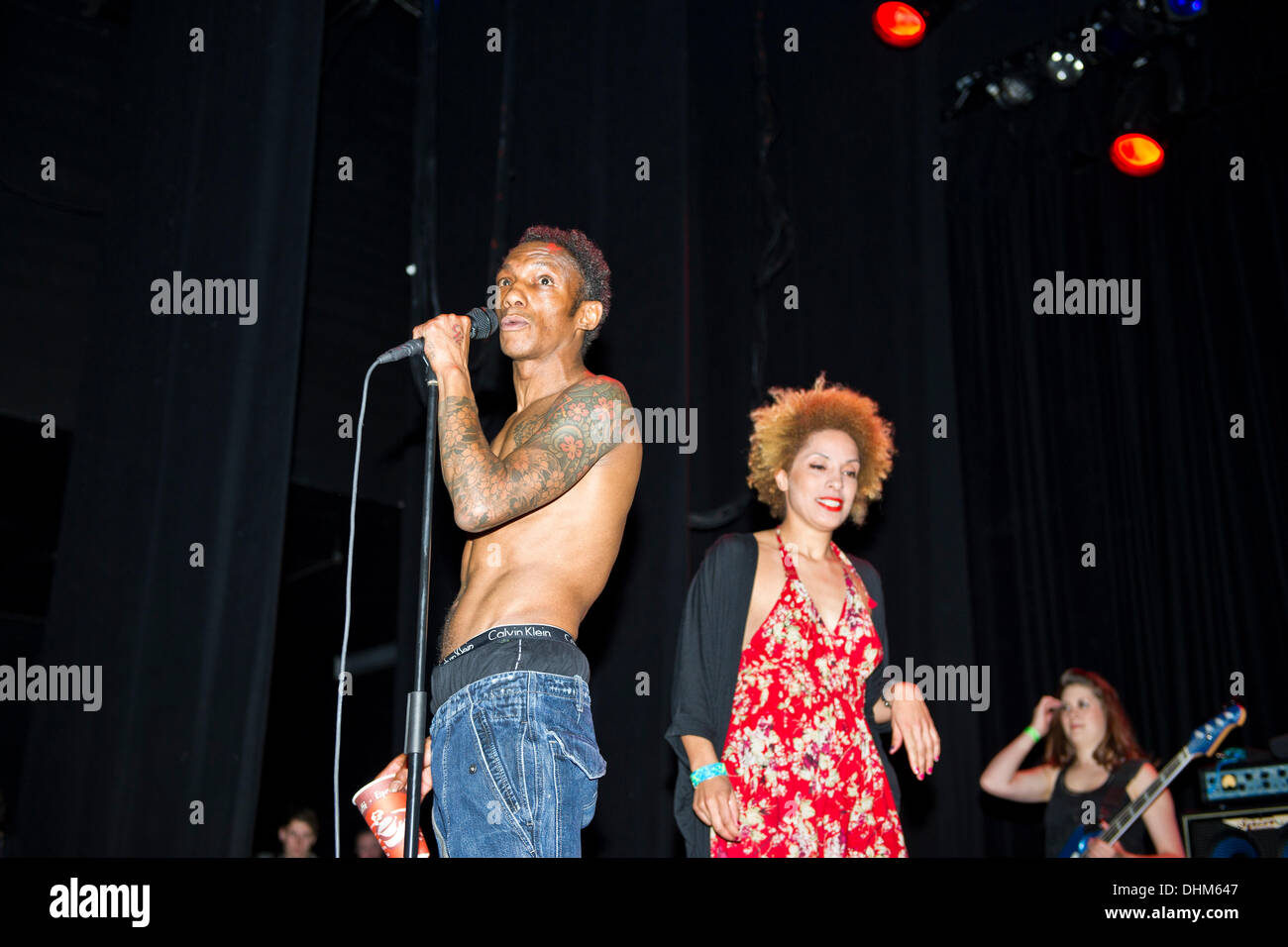 Tricky and Martina Topley Bird perform at the IndigO2  London, UK - 27.04.12 - Stock Image