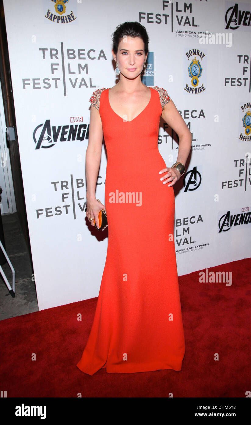 Cobie Smulders the 'Marvel's The Avengers' premiere during the closing night of the 2012 Tribeca Film Festival at Stock Photo