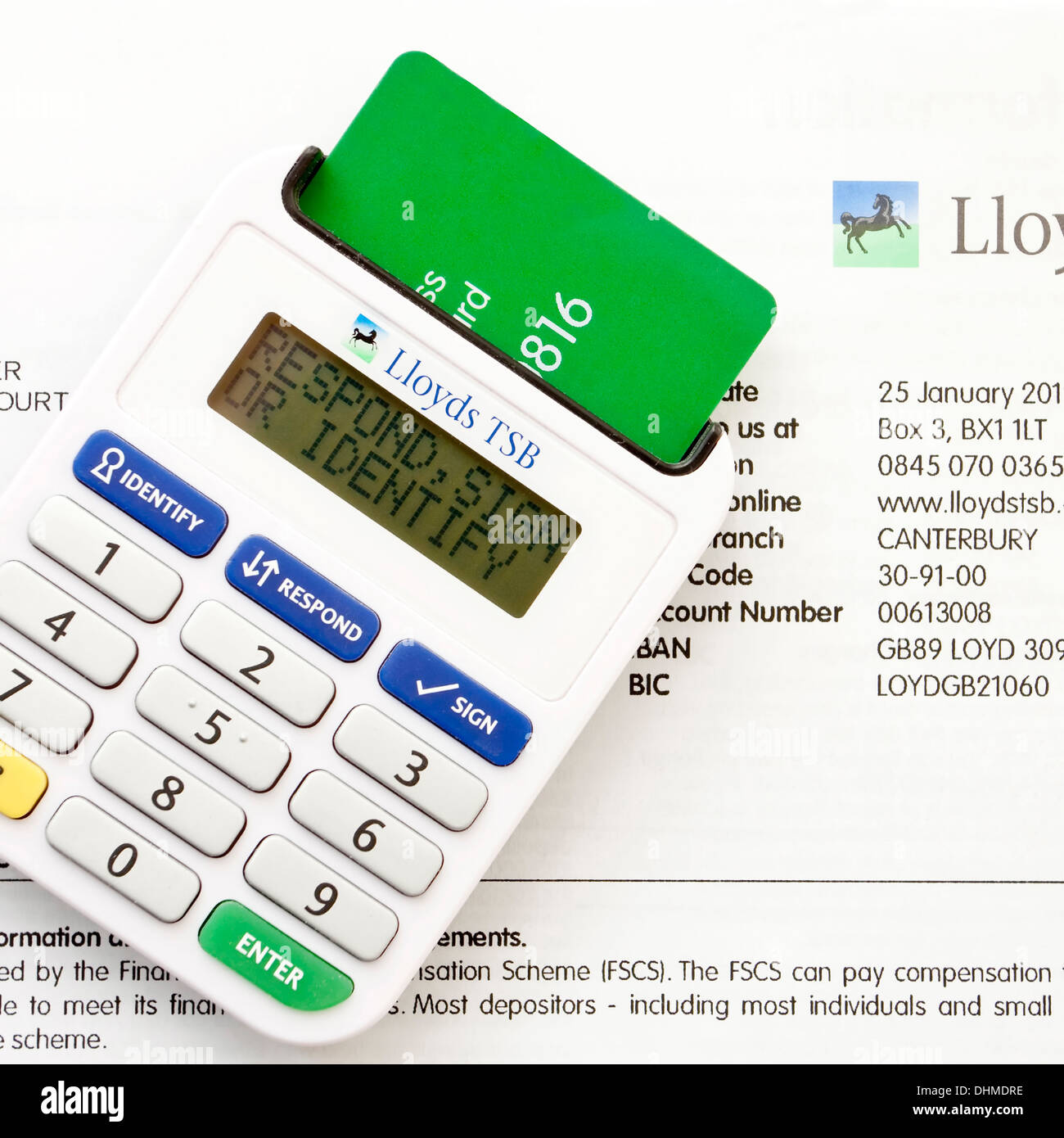 Lloyds tsb bank security card reader and bank statement stock photo lloyds tsb bank security card reader and bank statement reheart Images