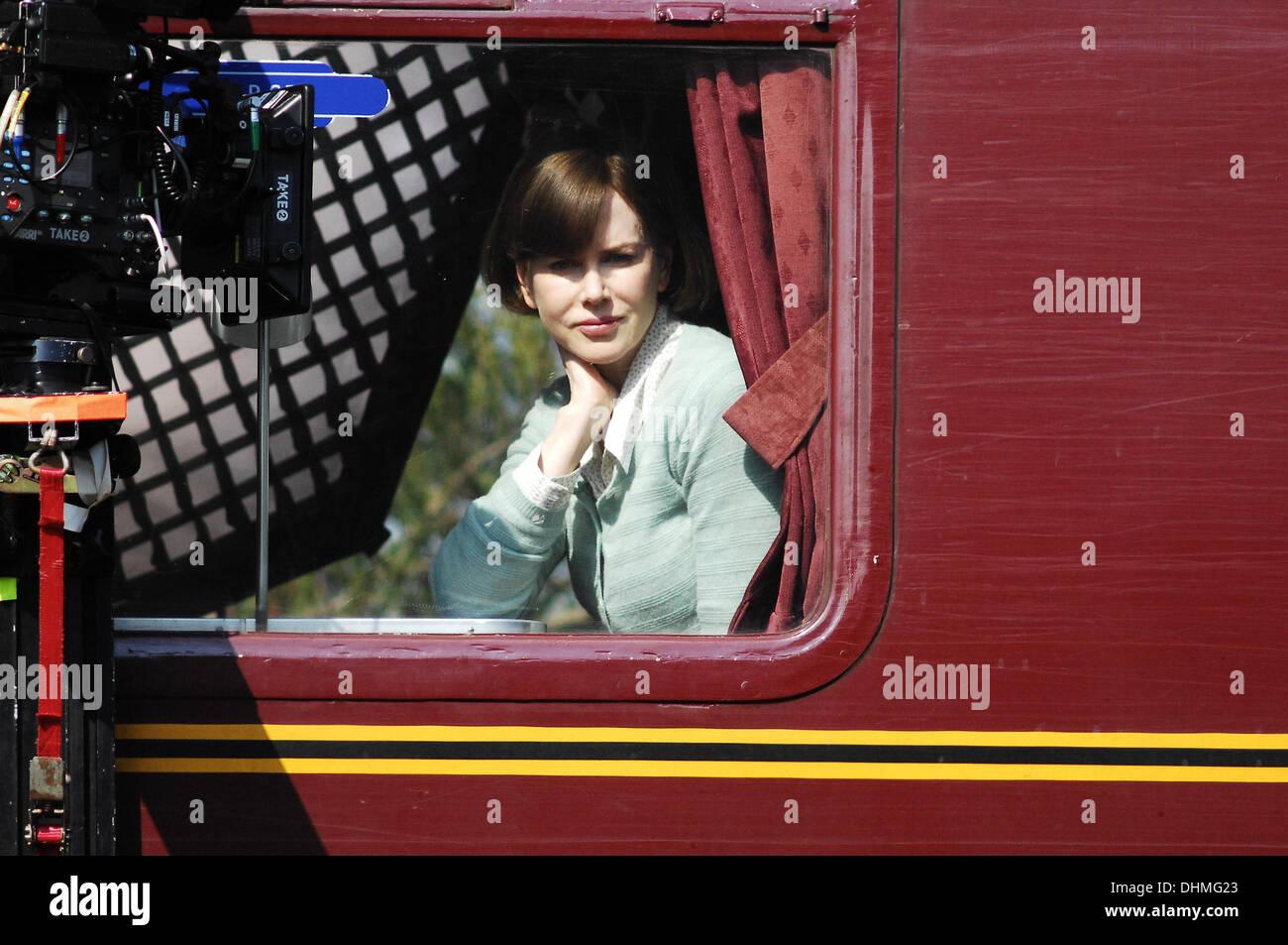 Nicole Kidman Filming A Train Scene From The Movie The Railway Man