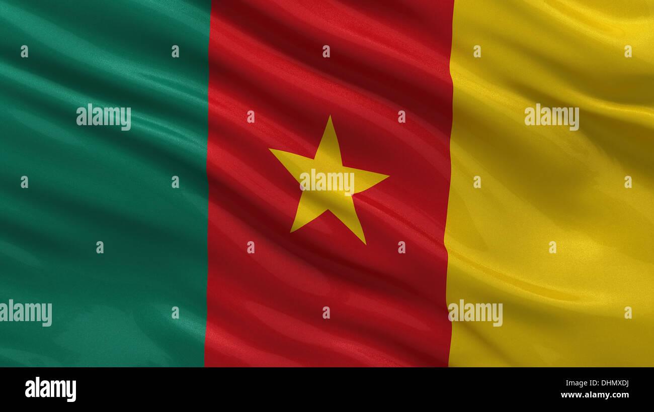 Flag Of Cameroon Stock Photo Alamy
