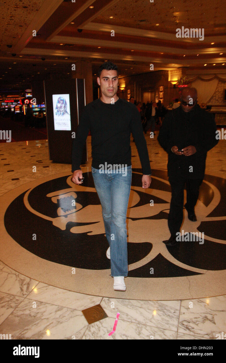 Adam Sabbagh leaves the MGM Grand Garden Arena after attending the ...