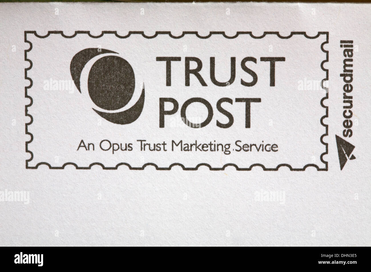 Trust Post An Opus Marketing Service Securedmail Information On Envelope Water Bill From Sembcorp