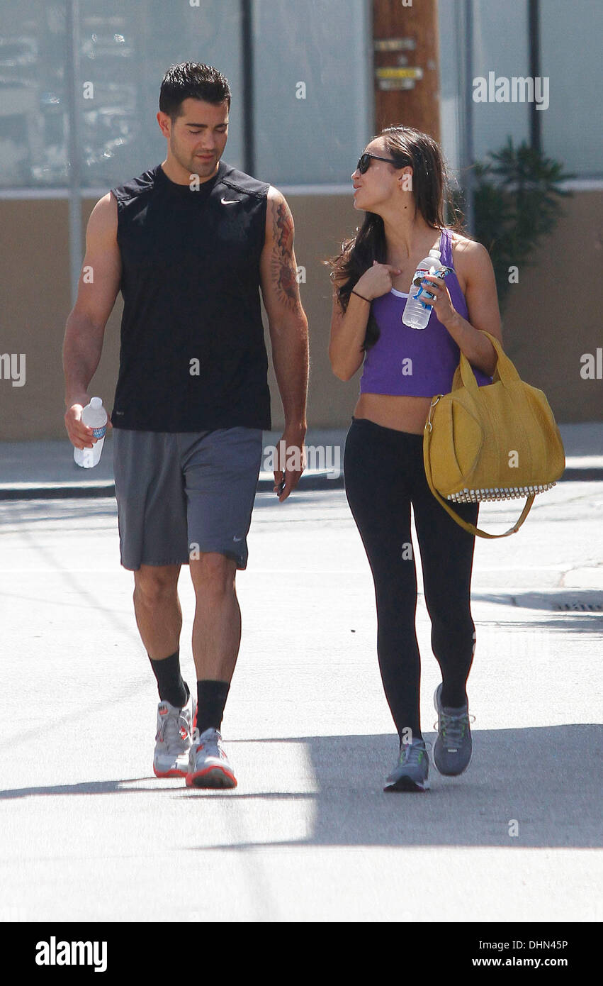 Jesse Metcalfe leaving the gym in Studio City with his