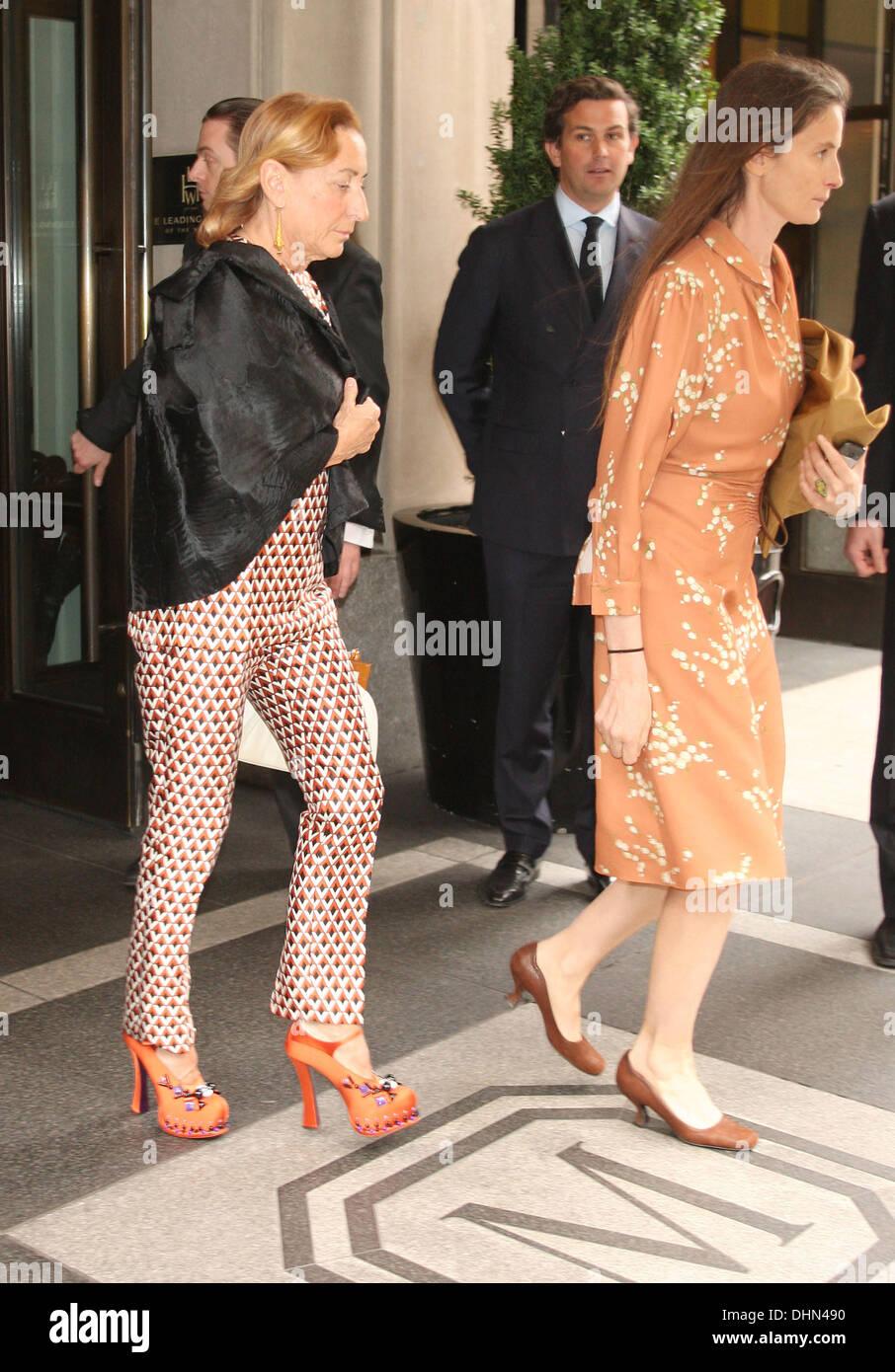 Italian fashion designer Miuccia Prada out and about New York City, USA -  07.05.12 fae2244445