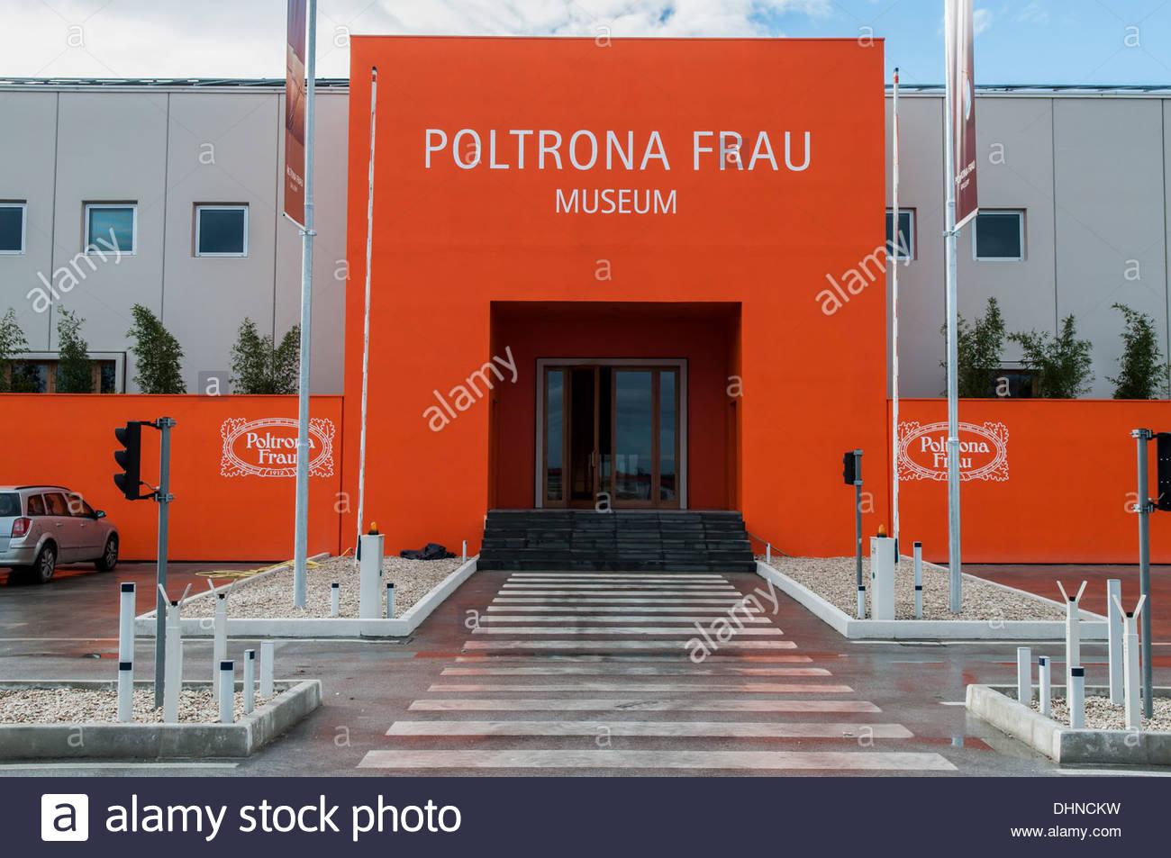 Poltrona frau museum tolentino marche italy stock photo
