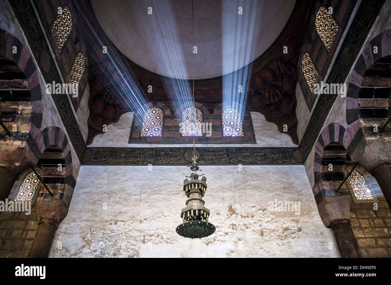 Africa, Egypt, Cairo, Salah Al Din citadel, the Qalawoon mosque - Stock Image