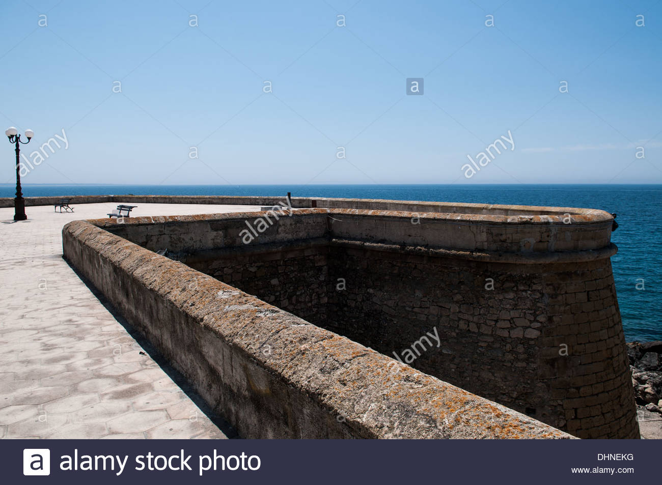 bastion,gallipoli,puglia,italy - Stock Image